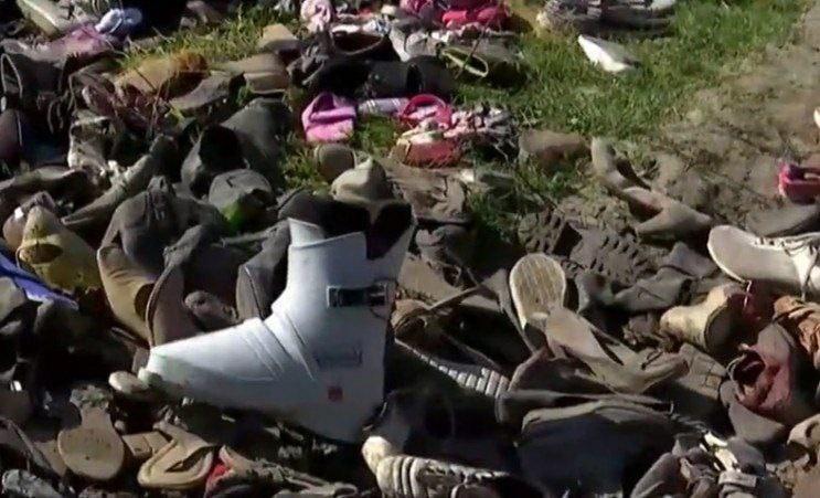 У Києві знайшли звалище старого взуття (ВІДЕО)
