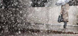Мокрий сніг. Фото ілюстративне