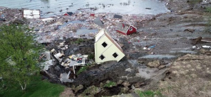 Фото: наслідки зсуву в Норвегії (nrk.no by ANDERS BJORDAL)