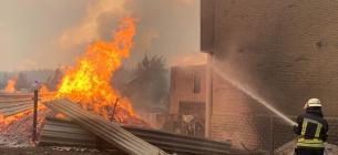 Пожежі на Луганщині. Стоп-кадр з відео ДСНС