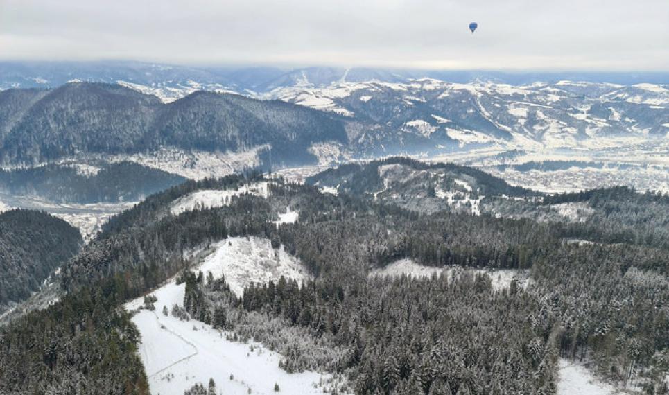 Фото Андрей Риштун - Воздухоплаватели перелетели горы за самое короткое время