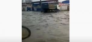 Вулична каналізація не справляється з такою кількістю води