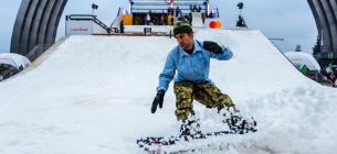 Дорогами столиці носяться сноубордисти.Фото ілюстративне