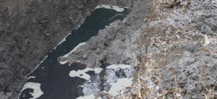 Нафта забруднює землю