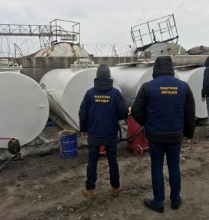Государственная фискальная служба Украины обнаружила незаконно изготовленное горючее