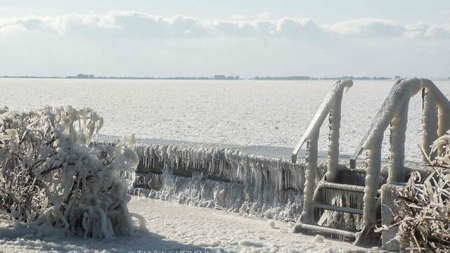 Азовське море замерзло. Всі фото з Фейсбуку Tanya Cheremysina