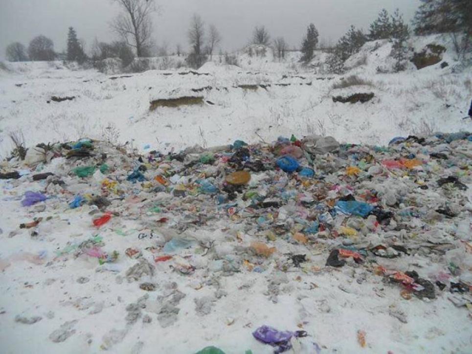 Тонни львівського сміття викинули у полі