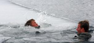 В Гидропарке ребенок провалился под лед