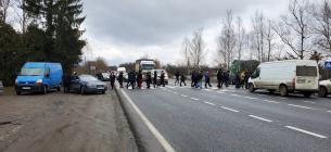 Фото galka.if.ua - На Франківщині підприємці перекрили трасу