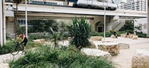 В штате Флорида посадили огромный парк под линией метро