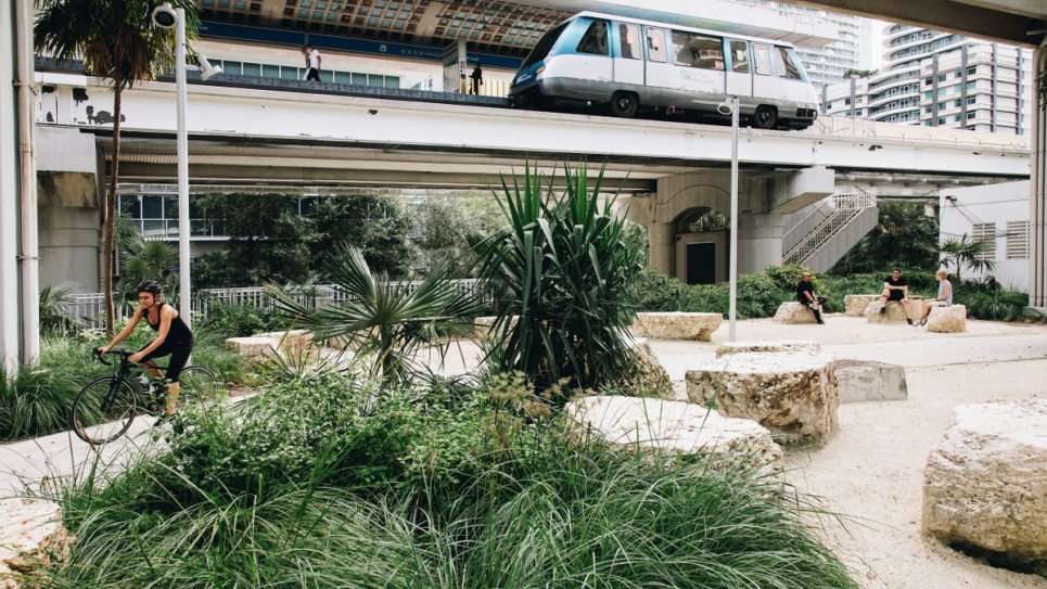 У штаті Флорида посадили велетенський парк під лінією метро