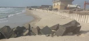 В НПП «Тузлівські лимани» заявили про відсипку будівельних матеріалів на пляж. Фото І.Вихристюк