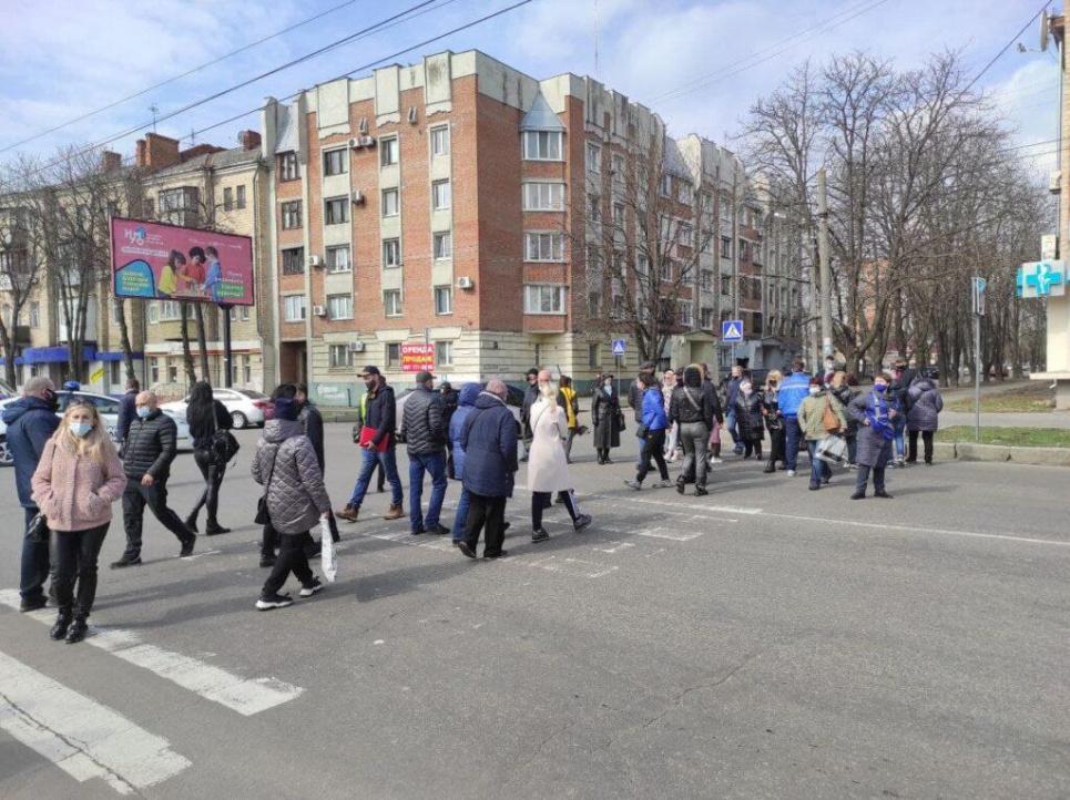 Фото «Зміст». Протестувальники перекрили головні дороги міста