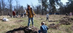 Українці по всьому висаджували дерева до акції «1 мільйон дерев за 1 добу у 100 країнах світу». Фото: Укрінформ