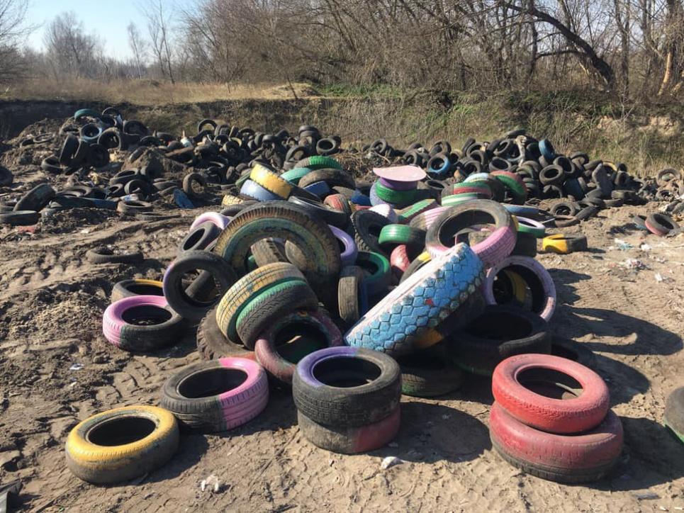 Тонны резиновых шин коммунальщики собираются похоронить в лесу
