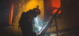 В Голосеевском районе Киева произошел крупный пожар