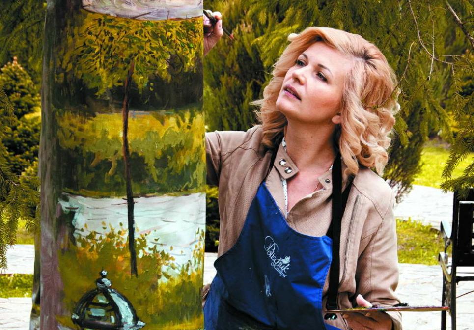 На Львівщині сад «завис» уповітрі: художниця вперше в Україні використала 3D-формат