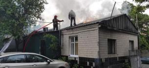 В Киеве спасатели пытались спасти кошку и четырех котят из пожара