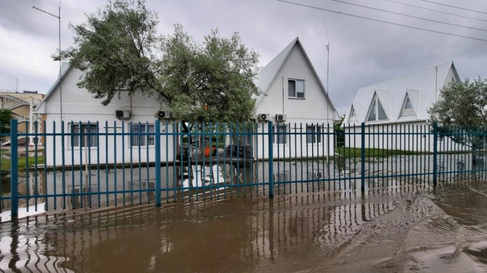 В Николаевской области после ливня затопило улицы и базы отдыха