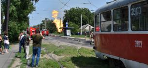 У Донецьку пролунав вибух на газопроводі, сильна пожежа