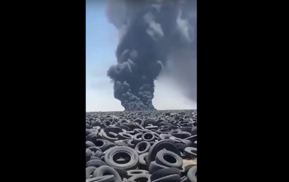 Екологічна катастрофа в Кувейті: горить найбільше у світі звалище покришок