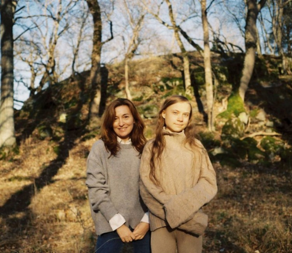 Фото Vogue Scandinavia: Грета Тунберг с главным редактором Мартиной Бонье.