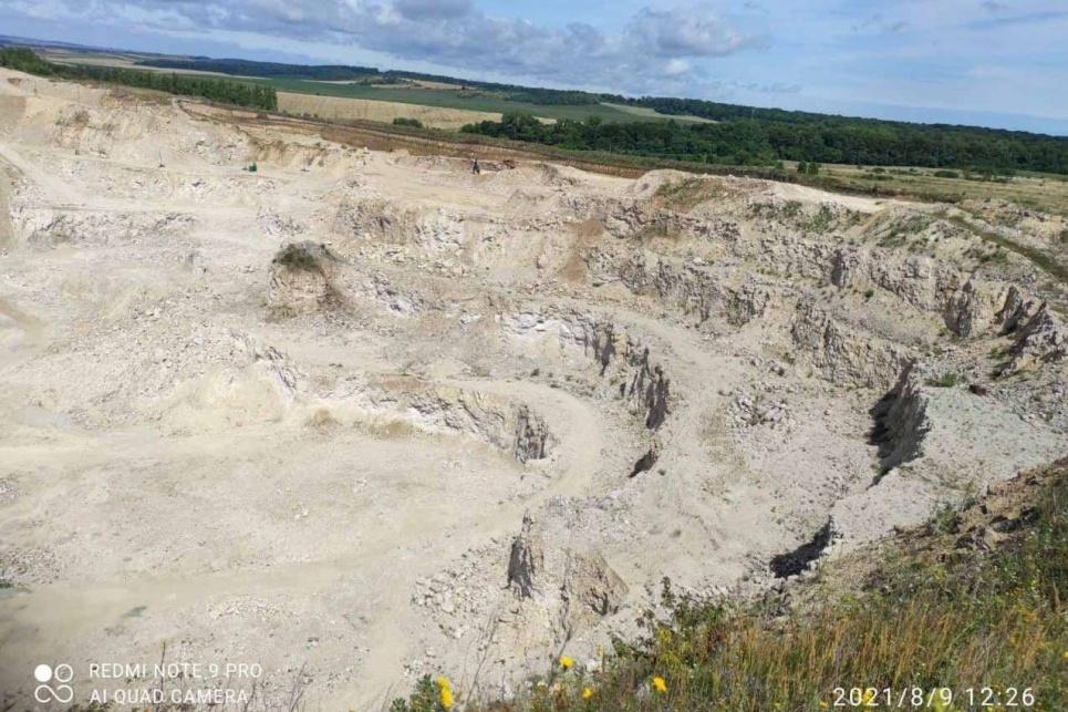В Тернопольской области карьер полностью уничтожил геологический памятник природы