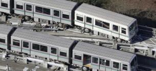 Потяг зійшов із рейок під час землетрусу / Kyodo